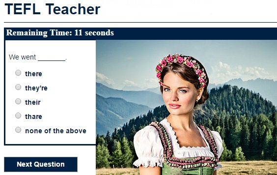 TEFL teacher training quiz